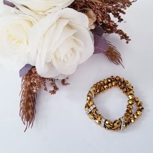 Double Looped Gold Bracelet